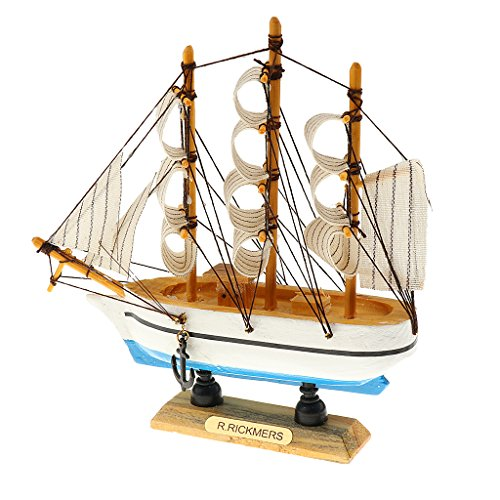 Sharplace Nautische Schiffsmodell Piratenschiff aus Holz, Kreative Büro Arbeitszimmer Deko, Kinder Geschenke (Bausatz Holz-piratenschiff)