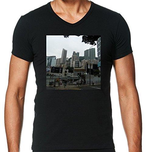camiseta-negro-con-v-cuello-para-los-hombres-tamano-l-rascacielos-en-hong-kong-4-by-cadellin