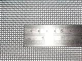 Geflochtenem Draht 10 Mesh 30 cm x 60 cm x2 mm grob, Gaze Edelstahl 304L 61% Offene Bereich