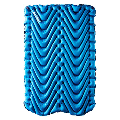 Klymit Unisex Termica V New Sleeping Pad per Campeggio, Blue/Charcoal Black