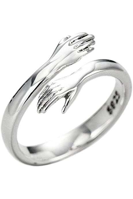Helen de Lete Come to My Arm 925 Sterling Silber verstellbarer Umarmungsring