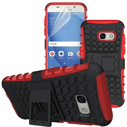 betterfon | Outdoor Handy Tasche Hybrid Case Schutz Hülle Panzer TPU Silikon Hard Cover Bumper für Samsung Galaxy A5 (2017) SM-A520 Rot Rot Hard Case