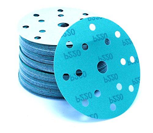 Preisvergleich Produktbild 50 Stück 150 mm Exzenter Schleifscheiben P120 Körnung passend für Festool RO 150 FEQ-PLUS , green Film