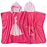 Asciugamani da spiaggia per bambini Principessa rosa Accappatoio in cotone biologico Bambini Bambini Bebè Costume da bagno Costumi da bagno Asciugamano da spiaggia Bagno Accappatoio da bagno con cappu