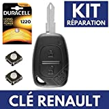 Coque / Boitier Cle Télécommande Plip RENAULT Trafic • Master • Kangoo  Switch  Pile DURACELL CR1220