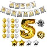 Decoraciones de Quinto Cumpleaños - 24 Piezas decoracion cumplea
