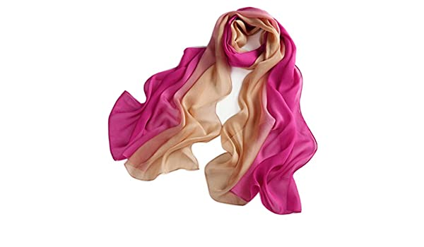 SIGI Ladies fashion Silk Scarf Gradient colour Shawl Scarves (Red Brown)   Amazon.co.uk  Sports   Outdoors 580b57ee1e351