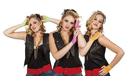 erdbeerloft - Kurze Netzhandschuhe Neon, (Madonna 90er Jahre Kostüm)