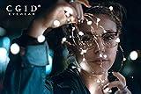 CGID 50er Jahre Retro Nerd Brille Halbrahmen Hornbrille Stil Rockabilly Streberbrille,Braun Vergleich