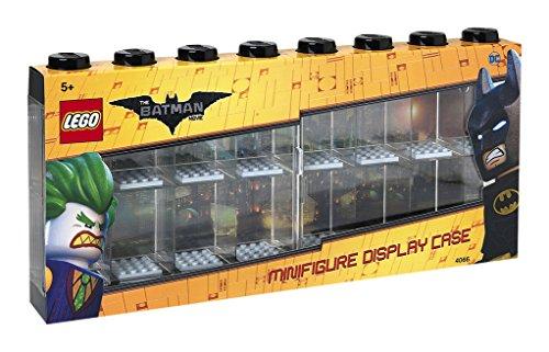 Lego Batman Minifiguren-Schaukasten für 16 Minifiguren, Stapelbare Wand- oder Tischbox, schwarz (Wall-mounted Display Case)