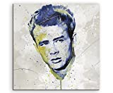 Paul Sinus Art James_Dean_II_Splash_60x60cm Wandbild Leinwand, 90 x 50 x 3 cm, Mehrfarbig