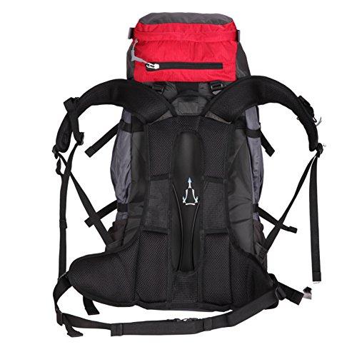 Doppelte Schultertasche Outdoor-Tasche/Große Kapazität Multi-Funktions-Rucksack/Berg-Umhängetasche-blau 60L rot