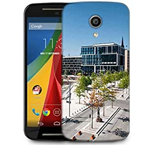 Snoogg Abstract City Designer Protective Phone Back Case Cover For Motorola G 2nd Genration / Moto G 2nd Gen