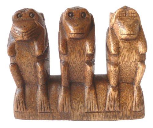 Möbel Mitter Die 3 Weisen aus Holz, Set en bloc, 13x15cm (Bloc Set)