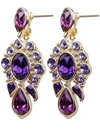 1 paire Boucles d'oreilles Piercing Long - Violet