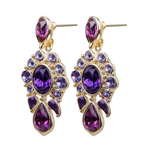 1-paire-Boucles-doreilles-Piercing-Long-Violet
