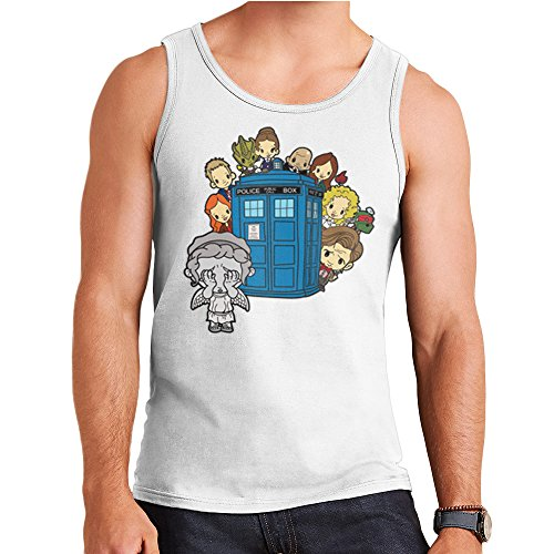 ngel Hide and Seek Matt Smith Tardis Men's Vest (Doctor Who River Song, Shirt)