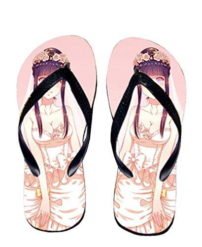 Bromeo Naruto Anime Unisex Flip Flops Zehentrenner Flip Pantoffeln 329
