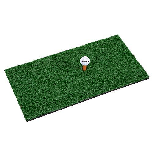 TOMSHOO Golf Übungsmatte Golf Matt Abschlagmatte mit Teehalter 60x30cm Tragbar