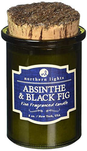 Northern Lights Kerzen Spirit Jar Kerze, 5oz, Absinthe & Schwarz Feige