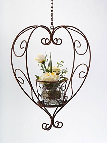 Formano Blumenampel \'Herz\',40 cm, rusty