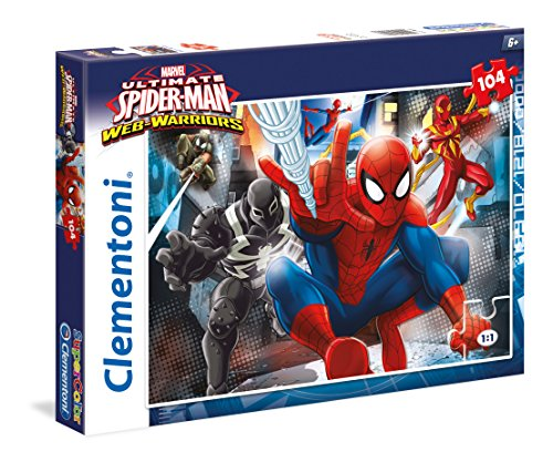 Clementoni 27958 - Puzzle Spiderman, Web Warriors, 104 Pezzi, Multicolore