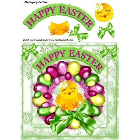 Linda chica en huevo de Pascua de la guirnalda 8X8 por Nick Bowley
