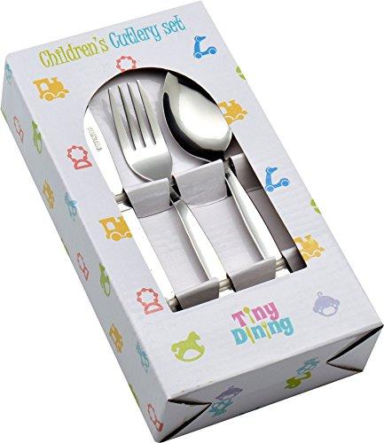 Set de 36 couverts pour enfant Tiny Dining (12 petits couteaux, 12 petites fourchettes, 12 petites cuillères)