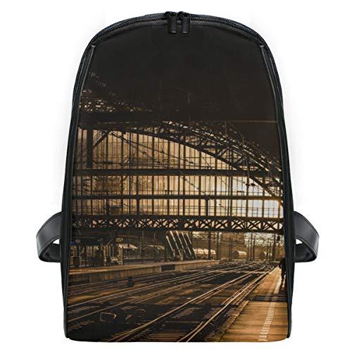 Mini Rucksack Daypack Station Tracks Rail Railroad Train Rucksack Bag Leichtgewicht für Mädchen Jungen (Box Rail-track)