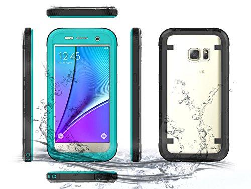 Samsung Galaxy S7 Waserdicht Hülle [Happon] Ultra Slim [IP68 Zertifiziert Wasserdicht] Stoßfest Stubdichtes Snowproof Handyhülle Kratzfestes Gehäuse Outdoor Handy Schutzhülle Unterwasser Cover Tasche Case für Samsung Galaxy S7 (Grün)