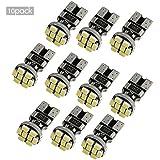 ZISTE 10 Piezas de alta potencia T10 W5W 194 501 3020SMD 8 LEDs CANBUS de 6000K Bombillas de xenón blanco de reemplazo Luz LED indicadora trasera