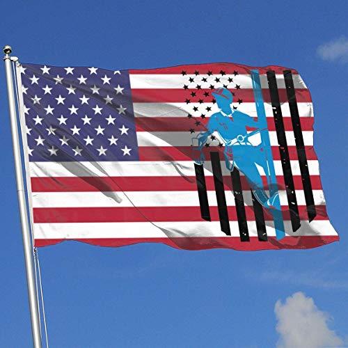 N/A Elektriker amerikanische Flagge Mann Banner Flagge lustige Hochzeitstag Flagge Frühling Sommer Garten Flagge 3 x 5 Haus Banner Flagge