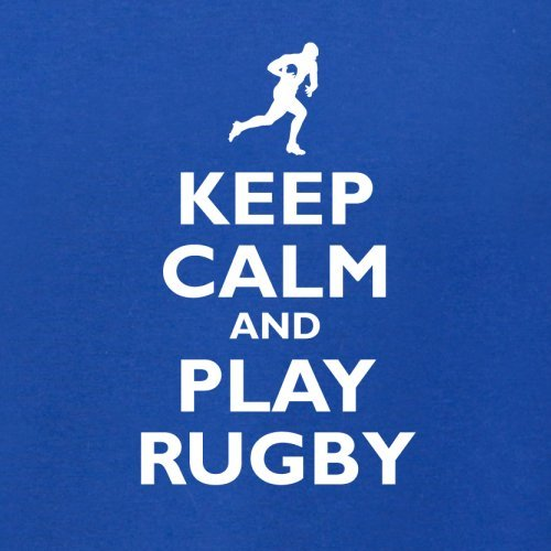 Keep Calm and Play Rugby - Herren T-Shirt - 13 Farben Royalblau