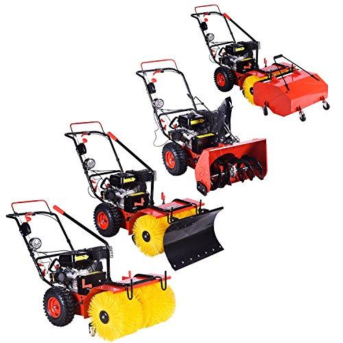 Preisvergleich Produktbild BRAST Benzin Kehrmaschine Schneefräse Laubsammler Schneeschieber 4 in 1 Gerät 4,8kW(6,5PS)