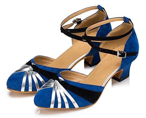 TDA ,  Damen Knöchel-Riemchen 4.5cm Heel Blue