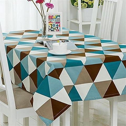 BYTQ® Toile de table Tissu en tissu de style européen en tissu Imperméable à l'huile, pas de nappe de toilette , 120*120cm