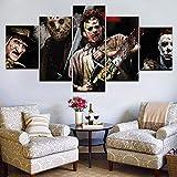Mddrr 5 Stücke Horror SägenCharaktere Wandkunst Bild Home Decoration Wohnzimmer Leinwanddruck Bild Druck Auf Leinwand