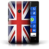 Coque de Stuff4 / Coque pour Nokia Lumia 520 / Royaume-Uni/Britannique Design / Drapeau Collection