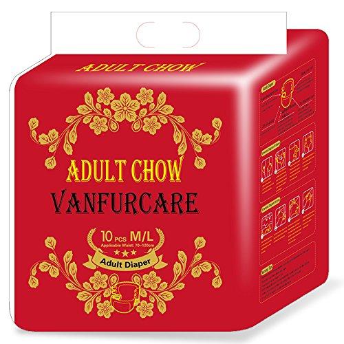 vanfurcare Magic Tape Windel in Tuch Einweg Ultra Windeln für Erwachsene Taille Größe 70–120cm