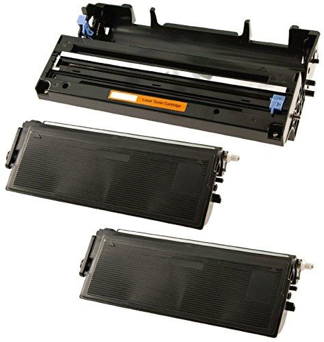 Trommeleinheit DR6000 & 2X Toner TN6600 kompatibel für Brother FAX-8360P HL-1030 HL-1230 HL-1240 HL-1250 HL-1270N HL-1430 HL-1440 HL-1450 HL-1470N MFC-9880 - Schwarz, hohe Kapazität