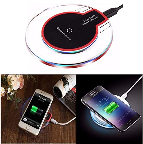 Techhark Wireless Charging Pad/Wireless Charger for iPhone 8/8 Plus iPhone X Samsung Galaxy Note 8/S9/S9+/S8 Plus/S8 Galaxy/S7/S7 Edge/LG/V30+