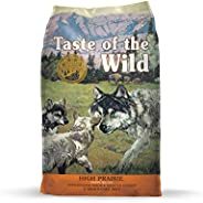 Taste of The Wild Grain Free Premium High Protein Dry Dog Food High prairie Puppy Recipe with Roasted Bison & Roasted Veniso