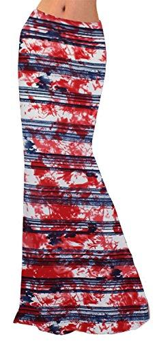 Novias Boutique Damen Rock Gr. X-Large, Red Tie Dye (Dye Tie Red)