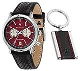 Maserati legend orologio Uomo Analogico al Al quarzo con cinturino in Pelle di vitello R8871638002