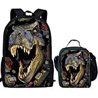Nopersonality Kids Girls School Backpack with Lunch Box Bag Set for Children Teenager