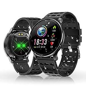 Reloj Inteligente, HOLALEI Smartwatch Pulsera Inteligente Impermeable IP68
