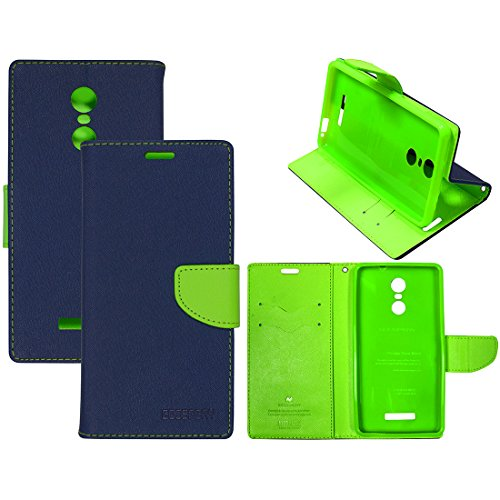 Casotec Goospery Fancy Diary Wallet Flip Case Cover for Xiaomi Redmi Note 3 - Blue / Green  available at amazon for Rs.399