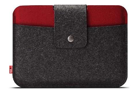 Pack & Smooch Case Cover Housse Pour La iPad Mini 3 / Mini 2 - En Feutre De Laine 100 % Mérinos -