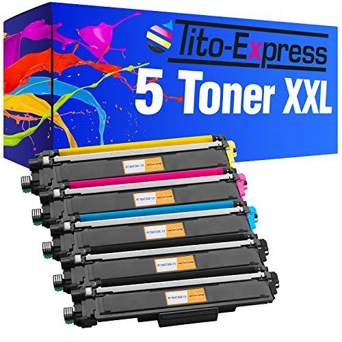 Tito-Express PlatinumSerie 5 Toner XXL kompatibel mit Brother TN-243 TN-247 DCP-L3510CDW L3550CDW HL-L3210CW L3230CDW L3270CDW MFC-L3710CW L3730CDN L3750CDW L3770CDW inklusive Chip! -