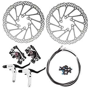 SainStyle NV-5 G3 Bike Disc Disque de Frein 160mm Kit Mécanique Avant + Arrière du Rotor de Frein de Bicyclette